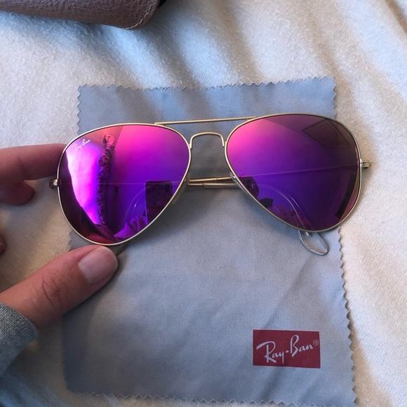 Ray-Ban Pink/Purple Aviator Sunglasses